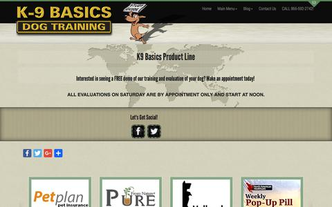 Screenshot of Products Page k9basics.com - Dog Food | Pet Products - captured Oct. 16, 2017