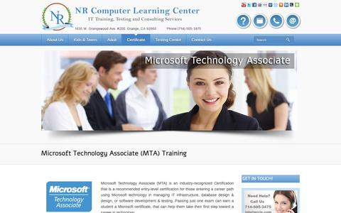 Screenshot of Developers Page nrclc.com - MTA (Microsoft Technology Associate) - IT Training | E-Learning IT Training, Testing and Consulting Services - captured Dec. 6, 2016