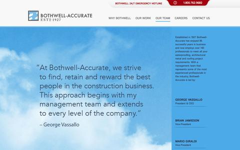Screenshot of Team Page bothwell-accurate.com captured Oct. 5, 2014