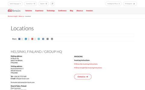 Screenshot of Locations Page m-brain.com - Locations - M-Brain - captured Jan. 24, 2017