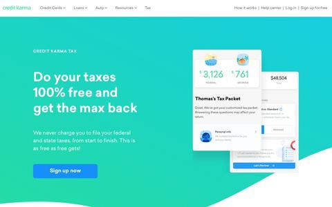 Free Tax Return, Prepare & File Taxes Online | Credit Karma Tax