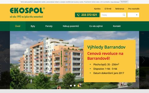 Screenshot of Home Page ekospol.cz - Nové byty Praha - Novostavby - EKOSPOL - captured Dec. 4, 2015