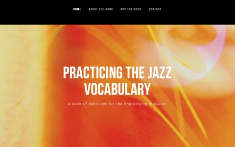 Screenshot of Home Page jazzvocabulary.com - Practicing the Jazz Vocabulary - captured March 12, 2016