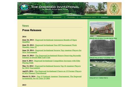Screenshot of Press Page thedogwood.com - News   The Dogwood Invitational - captured Oct. 6, 2014