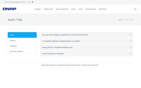 Screenshot of FAQ Page qnapbrasil.com.br - Qnap Brasil - captured Sept. 30, 2018