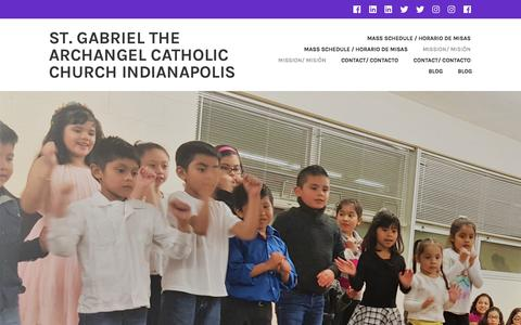 Screenshot of About Page stgabrielindy.org - Mission/ Misión – St. Gabriel the Archangel Catholic church Indianapolis - captured April 26, 2017