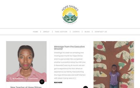 Screenshot of Blog hopeshines.org - blog - Hope Shines, Inc. - captured Sept. 29, 2018