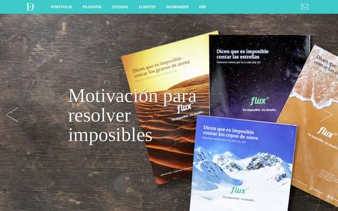 Screenshot of Home Page estudiodemaro.com - Estudio Demaro | Identidad y Comunicación - captured July 18, 2015