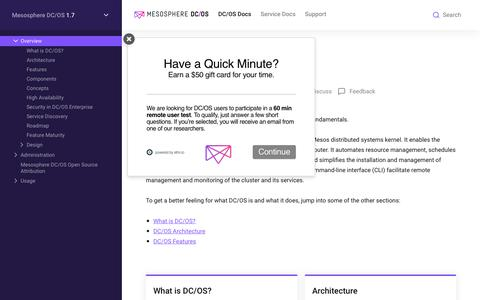 Overview - Mesosphere DC/OS Documentation