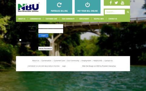 Screenshot of Login Page nbutexas.com - User Log In - captured Oct. 7, 2014