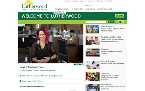 Screenshot of Home Page Site Map Page lutherwood.ca - Lutherwood - captured Sept. 30, 2014