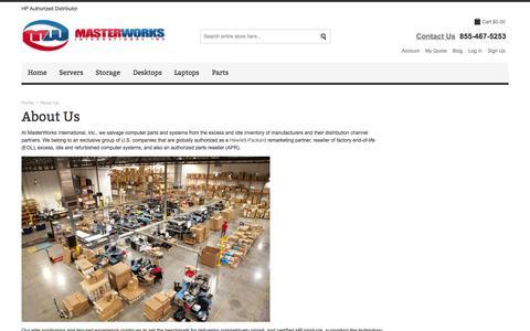 Screenshot of About Page masterworksglobal.com - About Us - MasterWorks International - captured Oct. 27, 2014