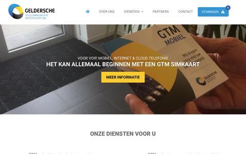 Screenshot of Home Page g-tele.com - Geldersche Telecommunicatie Maatschappij BV - captured Nov. 10, 2018