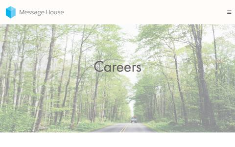 Screenshot of Jobs Page message-house.co.uk - Careers — Message House - captured Sept. 20, 2018