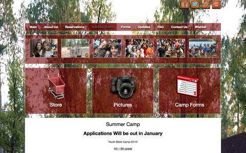Screenshot of Signup Page campcroix.org - Camp Croix Youth Summer Camp WELS Danbury WI - captured Oct. 27, 2014
