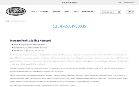 Sell Kerusso Products – Kerusso.com
