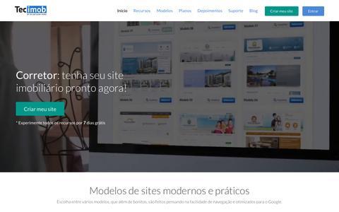Screenshot of Home Page tecimob.com.br - Tecimob - Site para imobiliária e site para corretor de imóveis - captured Feb. 3, 2017