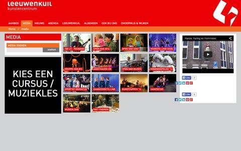 Screenshot of Press Page leeuwenkuil.nl - Media - foto en video - captured Oct. 5, 2014