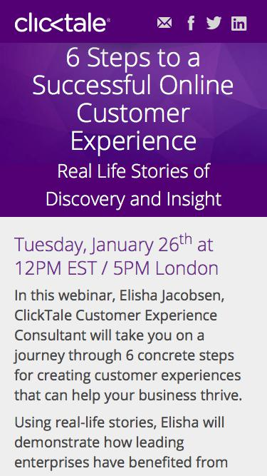 ClickTale Webinar | 6 Steps to a Successful Online Customer Experience