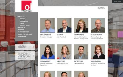 Screenshot of Team Page officeimagesinc.com - Our Team | Office Images Inc is Atlanta's premier office furniture and work space design provider - captured Dec. 1, 2016