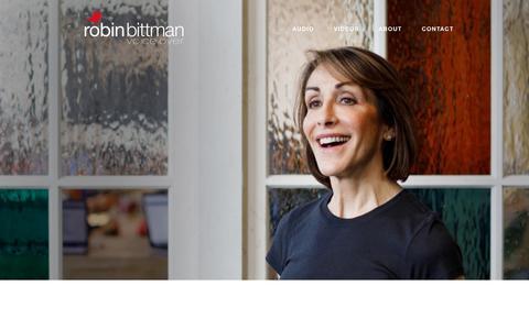 Screenshot of About Page robinbittman.com - About — Robin Bittman - captured Nov. 13, 2017