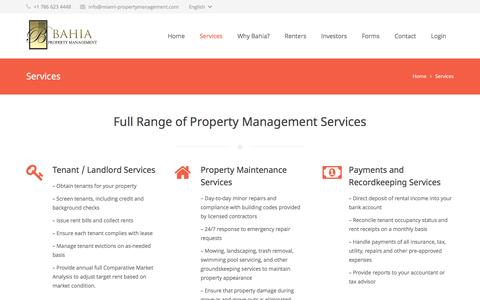 Screenshot of Services Page miami-propertymanagement.com - Miami Property Management Services - captured June 18, 2016