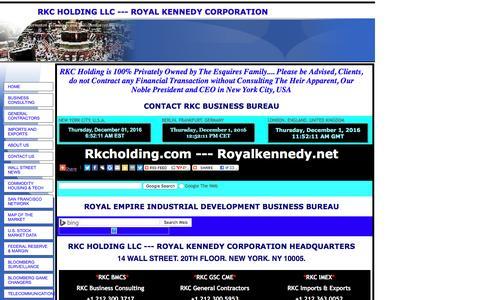 Screenshot of Contact Page royalkennedy.com - RKC HOLDING LLC  ---  ROYAL KENNEDY CORPORATION - captured Dec. 1, 2016