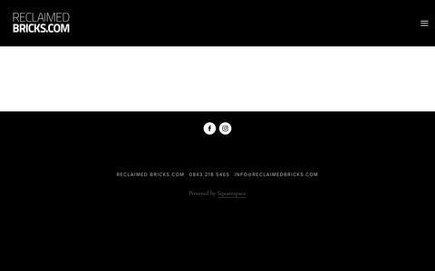 Screenshot of Blog reclaimedbricks.com - Blog — Reclaimed Bricks.com - captured Oct. 20, 2017