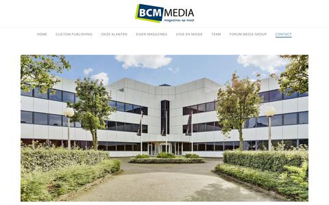 Screenshot of Contact Page bcm.nl - Contact - BCM media - captured Oct. 4, 2018