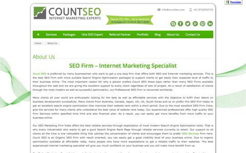 SEO Firm | Internet Marketing Specialist - Count SEO