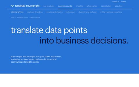 Talent Analytics & Intelligence | Randstad Sourceright
