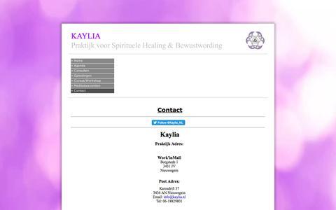 Screenshot of Contact Page kaylia.nl - Contact - captured June 9, 2017