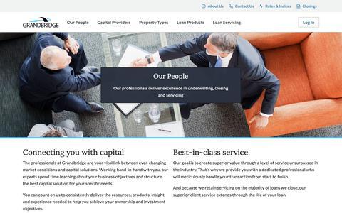 Screenshot of Team Page grandbridge.com - Our People | Grandbridge - captured Nov. 11, 2018