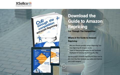 Screenshot of Landing Page xsellco.com - A Guide to Repricing on Amazon. Cut Through the Competition - captured June 21, 2016