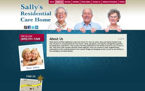 Screenshot of About Page sallyscarehome.com - About Us - Sally's Care Home - captured Oct. 4, 2014