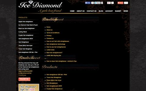 Screenshot of Site Map Page icediamondhair.com - Ice Diamond Stylers, Official Website. Buy direct online from our Ice Diamond hair straightener range - captured Oct. 27, 2014