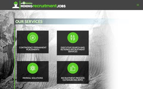 Screenshot of Services Page mining-recruitment-jobs.com - CA Mining Recruitment Payroll Services - captured Sept. 25, 2018