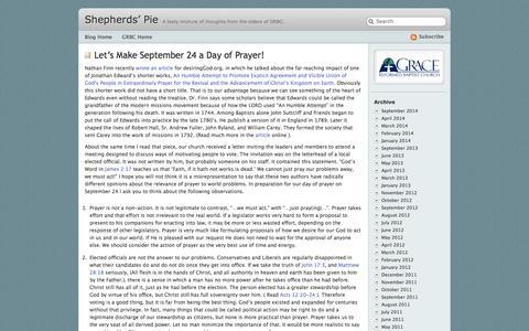 Screenshot of Blog grbc.net - Shepherds' Pie - captured Oct. 3, 2014