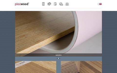 Screenshot of Home Page plexwood.com - Plexwood | Home - captured Sept. 30, 2014