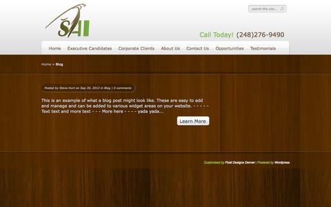Screenshot of Blog selaint.com - Blog | SAI - captured Oct. 7, 2014
