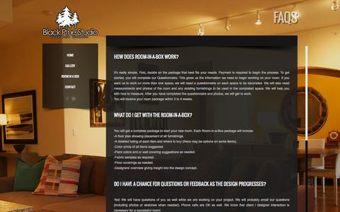 Screenshot of FAQ Page blackpinestudio.com - FAQs - BlackPineStudio - captured Sept. 30, 2014