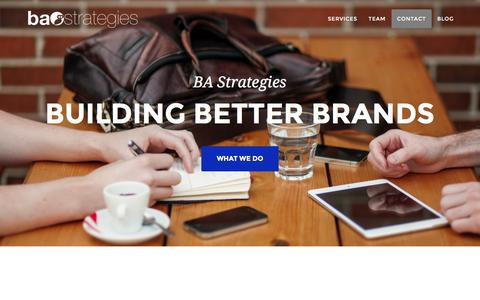 Screenshot of Home Page bastrategies.com - BA Strategies - captured Dec. 13, 2015