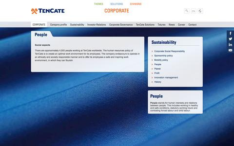 Screenshot of Team Page tencate.com - People | Royal Ten Cate Corporate EMEA - captured Oct. 26, 2014
