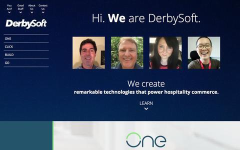 Screenshot of Home Page derbysoft.com - DerbySoft Hotel Marketing, Connectivity & Data Distribution Software - captured June 20, 2017