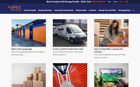 Screenshot of Press Page apexselfstorage.co.uk - The latest news from the Apex Self Storage team - captured Oct. 3, 2018