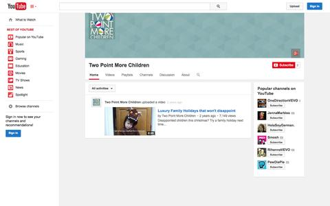 Screenshot of YouTube Page youtube.com - Two Point More Children  - YouTube - captured Oct. 26, 2014