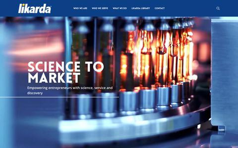 Screenshot of Home Page likarda.com - Home | Likarda - captured Sept. 28, 2018