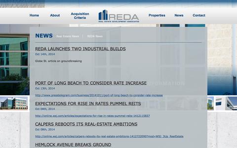 Screenshot of Press Page redallc.com - News – Real Estate Development Associates www.REDALLC.com - captured Nov. 5, 2014
