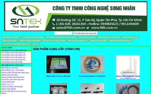 Screenshot of Home Page ftth.com.vn - Song nhan Technology Co.,Ltd (SNtek) www.ftth.com.vn - captured Oct. 22, 2017
