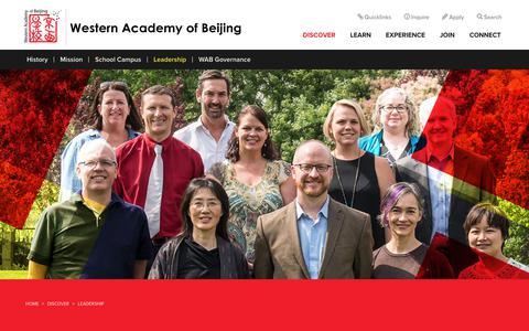 Screenshot of Team Page wab.edu - Private International School Western Academy of Beijing   Private International School - captured Oct. 20, 2017